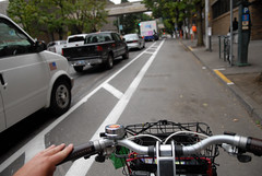 Cycletrack on SW Broadway-4