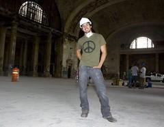 Me inside Michigan Central Station (mcsdetroitfriend) Tags: michigan detroit cleanup progress volunteer abandonment mcs summerinthecity corktown michigancentralstation michigancentraldepot