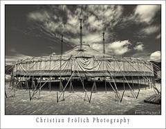The Circus 1 (Christian Frlich) Tags: sky bw espaa clouds island spain nikon circo circus nubes tradition mallorca isla hdr feature majorca baleares tradicion balearic d300 nikond300 christianfrlich