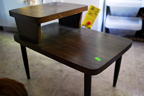 new (used) end table