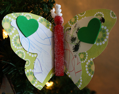 Ornament with daughters artwork