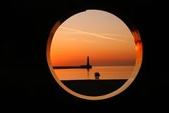 roker through the window (robert_mcconville) Tags: lighthouse sunrise ghost granite monolith roker granitemonolith