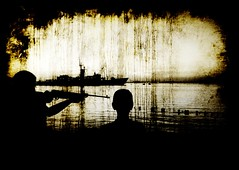 bad education (Emre Ucar) Tags: kid arms rifle destroyer battleship conceptual naval warship instructor visualthinking kriegsschiff schlachtschiff naviredeguerre savagemisi grseldil