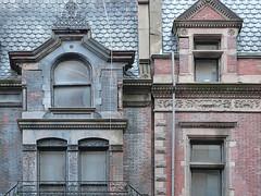 5969 / madison avenue stroll: buildings stuck in time, nyc (janeland) Tags: newyorkcity pink blue roof detail grey bricks architectural madisonavenue uppereastside dormers shingled imbrication