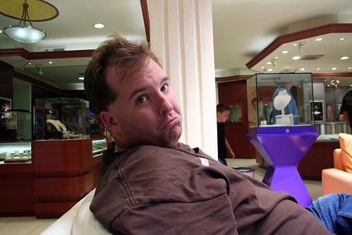 Mike Unimpressed at Diamonds International
