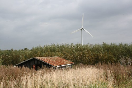 The turbine that provides the village with electricity