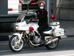 Yamaha Police Escort Motorcycle