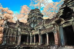Angkor Tomb (Johnny Siahaan) Tags: sunset sky nature water beautiful sunrise photo amazing nikon asia cambodia photos angkorwat stockphotos infrared angkor bestshot stockphotography irphoto infraredphotography beautifullandscape traveltravel photostock siemrep sellphotos interestinglandscape flickraward fiveprime johnnysiahaan