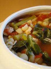 Simply Minestrone (Vegan Feast Catering) Tags: herbs tofu pasta veggies veggiebroth veggiesoymeat