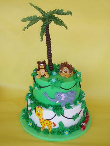 Safari Jungle Animal Cake
