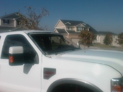 The new truck feels naked, getting a new windshield