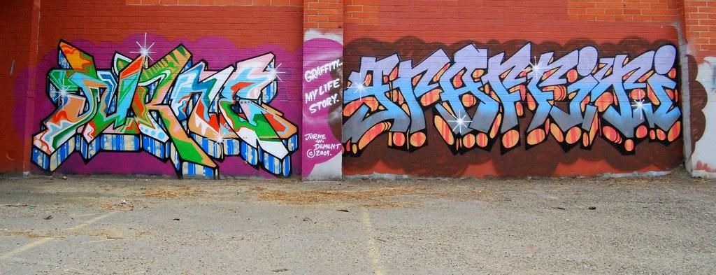 Jurne Dement Graffiti Story of my Life - Oakland, California.