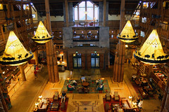 Wilderness Lodge Lobby HDR (David.Stewart) Tags: world park lighting summer vacation holiday architecture america photoshop canon landscape eos restaurant orlando florida magic entrance august disney resort lobby reception mickeymouse vista states 1855mm wdw dslr waltdisneyworld walt magical celebrate 2009 efs wildernesslodge cs3 wdi lakebuenavista xti 1000d