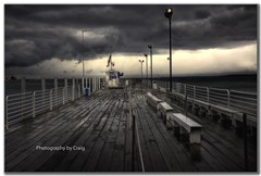Shepler's Stormy Ferry Dock on Mackinac Island (Craig - S) Tags: sea lake storm cold wet water rain ferry clouds brewing dark bench dock foreboding rail windy dreary stormy eerie spooky rainy railing benches mackinacisland damp stormwatch sheplers