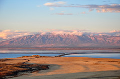 Ben Lomond (Great Salt Lake Images) Tags: sunset utah antelopeisland greatsaltlake causeway visitorcenter mountogden buffalopoint