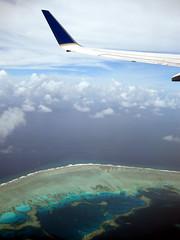Kosrae, Micronesia (mattk1979) Tags: ocean above coral plane island islands pacific flight aerial atoll federatedstatesofmicronesia continentalairmicronesia
