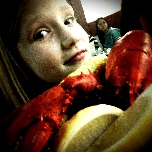 Sarah and the lobstah!