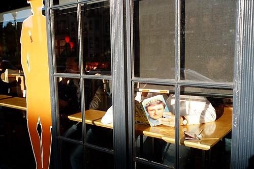 Merv Griffin in Window