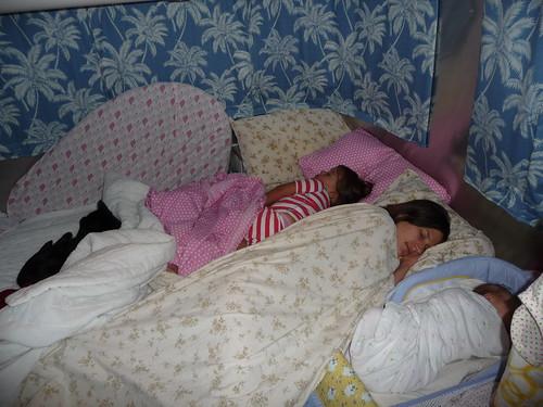 ladies. asleep. together.