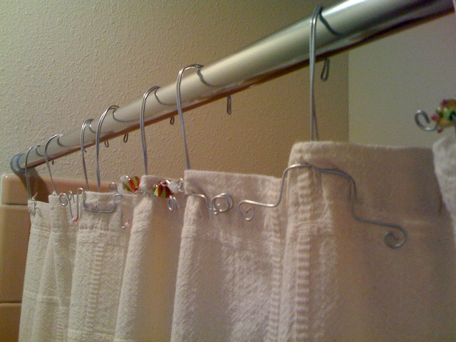 Shower curtain rings, but not the stupid plastic ones – Geekcrafting ...