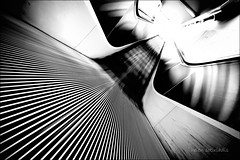 slipstream (helen sotiriadis) Tags: longexposure bw white black monochrome architecture metro escalator perspective athens pointofview greece imf tilt crisis syntagma greekrevolution