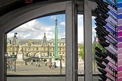 Paris as backdrop (robyenroute) Tags: paris window seine painting theatre louvre sketching scene quay marker backdrop letraset pantone sennellier promarker
