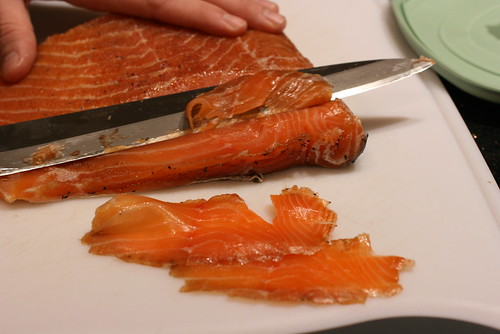 slicing lox