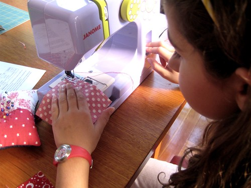 Chloe sewing
