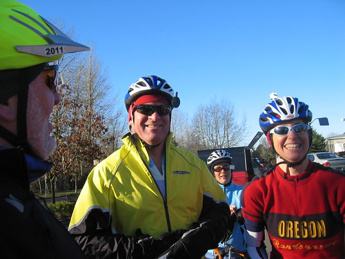 Dave, Steve, Patty and Cecil at the start