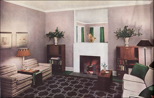 Popular 1935 Modern Living Room in Neutrals
