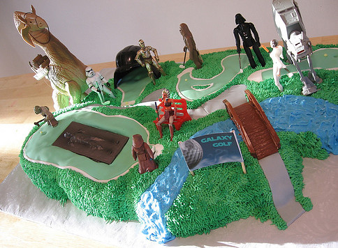 Why make a typical birthday cake when you can make a Star Wars miniature