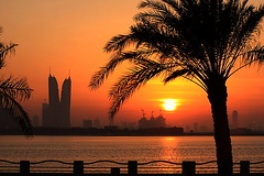 Right where I need to Be (Helminadia Ranford) Tags: park sunset tree golden bahrain silhouettes special gift manama worldbest