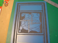 Brigid's Cross plate in progress