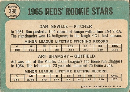 Reds Rookies (back) by you.