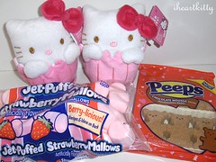 valentine's day goodies! (iheartkitty) Tags: cute strawberry hellokitty plush sanrio cupcake kawaii target valentinesday iheartkitty