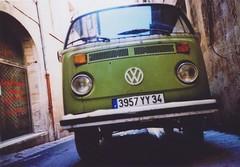 ^ (Ilaria ♠) Tags: france verde vintage lomo lca xpro crossprocess toycamera montpellier francia lowfi wolkswagen agfactprecisa100 sviluppoinvertito