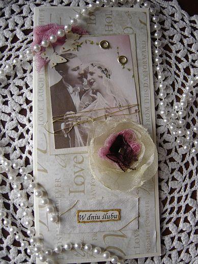 kartka ślubna, a weeding card