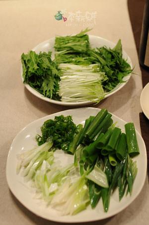 水菜、青蔥