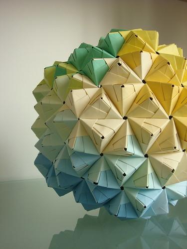 Modular Origami Sonobe Ball