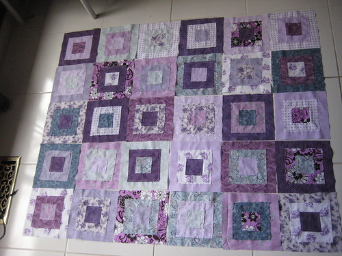 Ragged Squares Quilt Placement