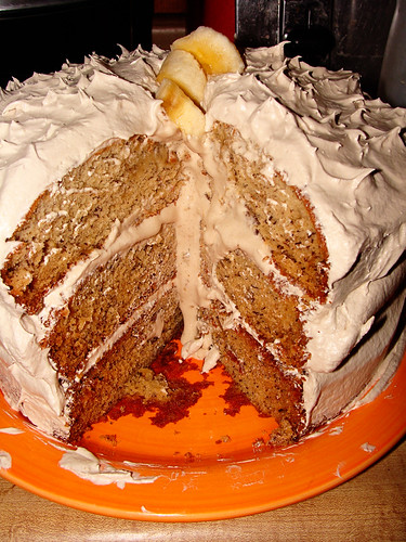 Banana Cake with Maple Frosting