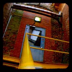 YellowToBlue (mulevaline) Tags: blue brick mill yellow nc duaflex hillsborough ttv