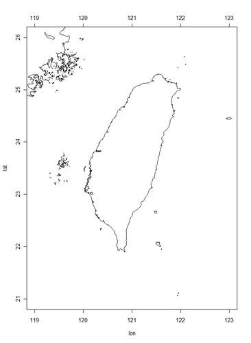 台灣海岸線圖