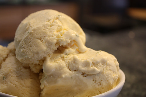 Ginger Rosemary Mango Ice Cream