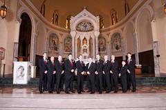 Buckman 0141 (harmonweddings.com) Tags: wedding church saint groom bride catholic veil dress bridesmaid rosary louisville groomsmen rd newburg agness