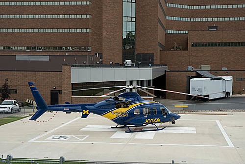 0170 Survival Flight Helicopter University of Michigan Hospital