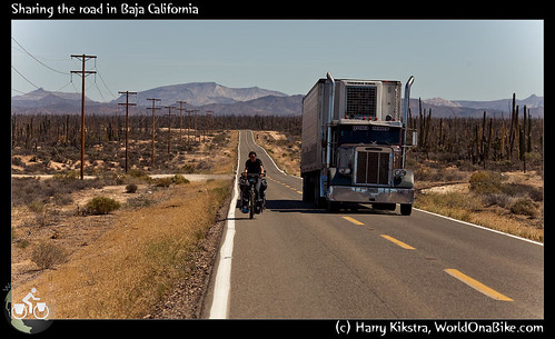 Sharing the road in Baja California por exposedplanet.