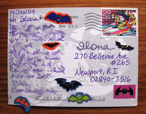 Batty Sendsomething postcard
