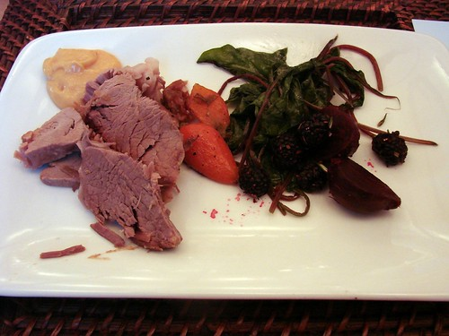 Lamb with Beets, Spinach, and Carrots
