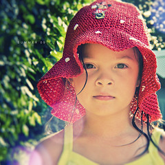 P&S: Summer 09 (isayx3) Tags: summer portrait macro hat point warm shoot glare dof bokeh ps polka dot 09 coolpix pointandshoot tones p5000 plainjoe isayx3